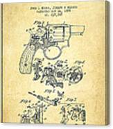 Wesson Hobbs Revolver Patent Drawing From 1899 - Vintage Canvas Print