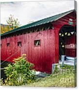 West Arlington Covered Bridge Canvas Print