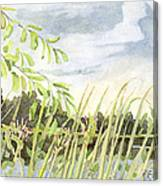 West Bay Napanee River Canvas Print