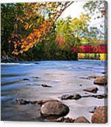 West Cornwall Covered Bridge- Autumn  Canvas Print