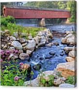 West Cornwall Covered Bridge Summer Canvas Print