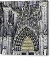 West Entrance Door Cologne Cathedral Canvas Print