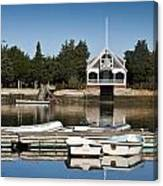 West Falmouth Boat House Canvas Print