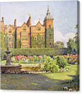West Front And Gardens Of Hatfield Canvas Print