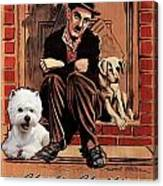 West Highland White Terrier Art Canvas Print - A Dogs Life Movie Poster Canvas Print