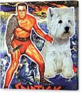 West Highland White Terrier Art Canvas Print - Spartacus Movie Poster Canvas Print