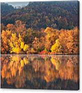 West Lake Winona Orange Stripe Canvas Print