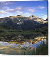 West Needle Mountains Reflected In  Pond Canvas Print