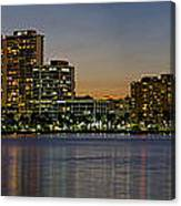 West Palm Beach At Twilight Canvas Print