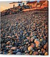 West Point Lighthouse Rocks Canvas Print