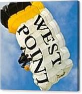 West Point Sky Diver Canvas Print