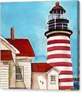 West Quoddy Light House Canvas Print