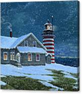 West Quoddy Lighthouse Canvas Print