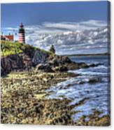 West Quoddy Lubec Maine Lighthouse Canvas Print