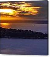 West Seattle Soaring Sunset Canvas Print