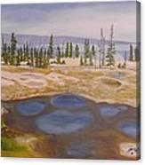 West Thumb Geyser Basin Yellowstone Canvas Print