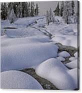 West Thumb Snow Pillows II Canvas Print