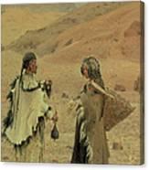 West Tibetans, 1875 Oil On Canvas Canvas Print