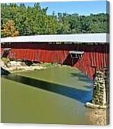 West Union Covered Bridge 2 Canvas Print