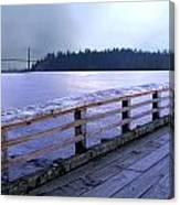 West Vancouver Dundarave Pier Left Canvas Print