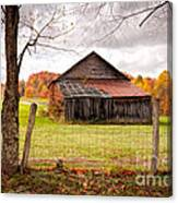 West Virginia Barn In Fall Canvas Print