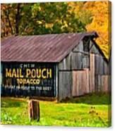 West Virginia Barn Oil Canvas Print