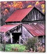 West Virginia Country Roads - Nearing The Threshold Of Yet Another Winter Canvas Print