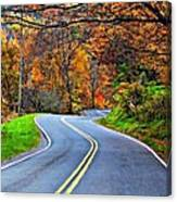 West Virginia Curves 2 Canvas Print