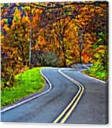 West Virginia Curves Painted Canvas Print
