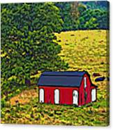 West Virginia Line Art Canvas Print