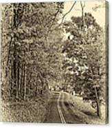 West Virginia Wandering Sepia Canvas Print