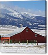 Westcliffe Landmark - The Red Barn Canvas Print