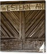 Western Art Barn Doors In Color 3003.02 Canvas Print