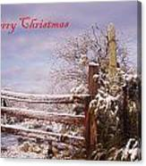 Western Christmas Canvas Print