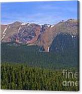 Western Face Pikes Peak Canvas Print
