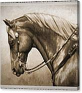 Western Horse Old Photo Fx Canvas Print