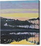 Western Lake Sunrise Canvas Print