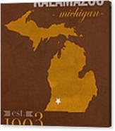 Western Michigan University Broncos Kalamazoo Mi College Town State Map Poster Series No 126 Canvas Print