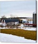 Western New York Farm As An Oil Painting Canvas Print