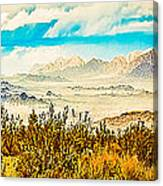 Western Panorama From Mountain At Joshua Tree National Park Canvas Print