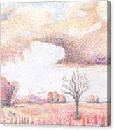 Western Vista - Rain Canvas Print