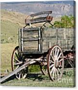 Western Wagon Canvas Print