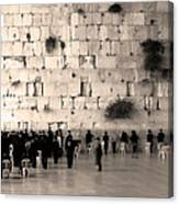 Western Wall Photopaint One Canvas Print