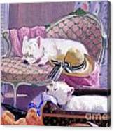 Westies Home Canvas Print
