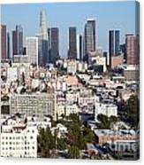 Westlake And Los Angeles Skyline Canvas Print