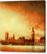 Westminster At Dusk Canvas Print