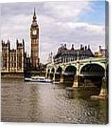 Westminster Pano Color Canvas Print