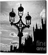 Westminster Silhouette Canvas Print