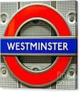 Westminster Underground Logo Canvas Print
