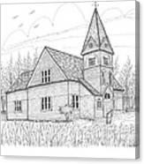 Westmore Community Church Canvas Print